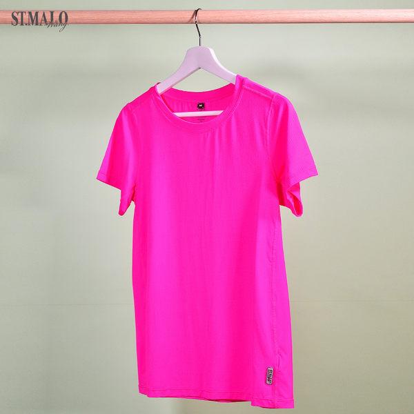 【ST.MALO】台灣製極簡率性吸排女上衣-1874WT-彩漾桃