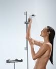 【麗室衛浴】德國原裝  Hansgrohe 27014溫控 恆溫 淋浴龍頭含滑桿組 客戶升級寄賣只有2支