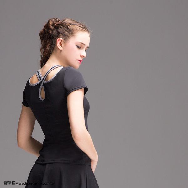 *╮寶琦華Bourdance╭*專業瑜珈韻律芭蕾★造型短袖上衣(內有裡襯 附罩杯)【D16111】