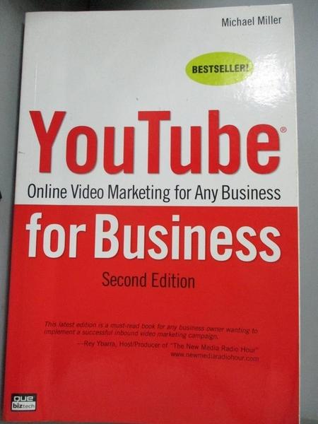 【書寶二手書T1/電腦_YFP】YouTube for Business: Online Video Marketing for Any..._Miller