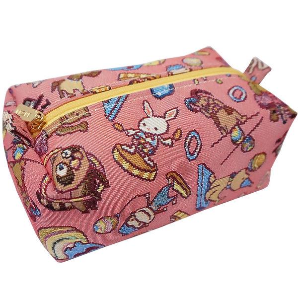 【部落客台灣梅子分享款】REORE 化妝包-開心迷你馬戲團緹花蛋糕包 粉紅-REORE