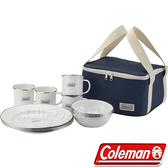 Coleman CM-32362 四人份琺琅餐盤組 家庭餐具組/環保餐具碗筷/露營餐具 公司貨