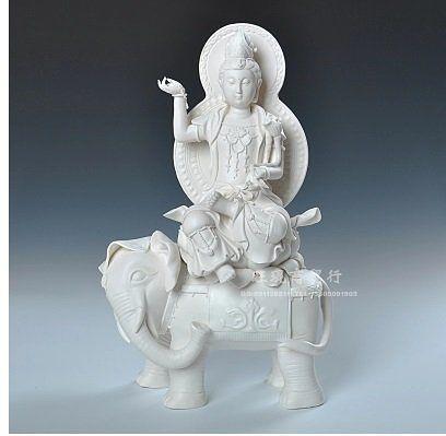 坐象觀音陶瓷工藝品