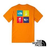 【THE NORTH FACE 美國】中性 圓領短袖T恤『亮黃』NF0A4U9I 戶外 登山 時尚 休閒 上衣 短袖