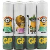 GP 超霸 霸-那那 環保碳鋅電池 4號 4入 小小兵聯名款