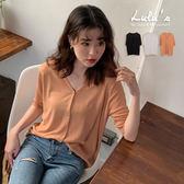 LULUS-C同色釦涼感針織外套-3色  【03030947】