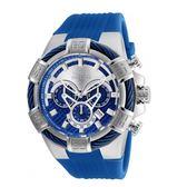 【INVICTA】繩索系列 - 三眼計時腕錶 - 藍銀新繩索