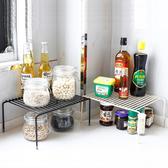 瀝水架 整理架 可伸縮 調味瓶架 收納架 鐵藝 碗碟架 置物架 分層置物架(基本款-大)【N096】慢思行