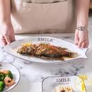 歐式魚盤子家用大號長方形餐盤蒸魚盤子北歐烤魚盤可微波【雲木雜貨】