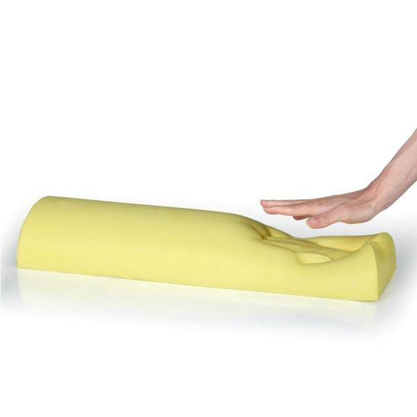 愛之舟慢回彈太空記憶棉護頸椎枕頭 半圓柱形枕 腿枕 護腰靠墊