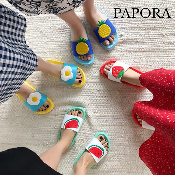香甜水果造型防水拖鞋
