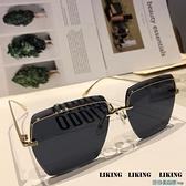 墨鏡 2021新款歐美大框墨鏡女網紅街拍ins素顏眼鏡時尚百搭太陽鏡顯瘦 快速出貨