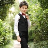 男童禮服馬甲套裝小花童男孩主持人兒童西裝鋼琴表演演出服裝西服 年前鉅惠