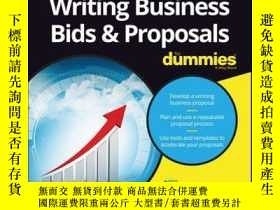 二手書博民逛書店Writing罕見Business Bids and Proposals For DummiesY410016