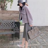 大韓訂製短毛絨外套日系糖果色翻領棉外套寬鬆落肩袖