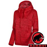 【MAMMUT 長毛象】女 Chamuera 針織保暖連帽外套『3544 速克達』1014-01390 戶外 登山 防風 保暖