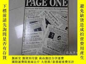 二手書博民逛書店PAGE罕見ONE MAJOR EVENTS 1920-1975