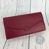 BRAND楓月 LOUIS VUITTON 路易威登 LV M60580 梅紅色 EPI長夾 錢包 錢夾
