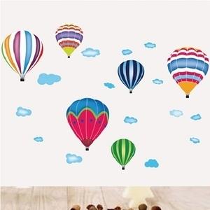 創意無痕壁貼 熱氣球