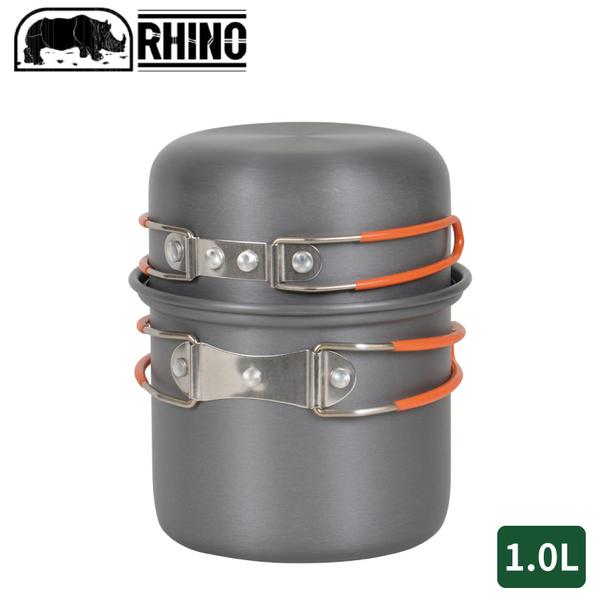 【RHINO 犀牛 K-1 犀牛單人鋁合金輕便套鍋】K-1/露營炊具/登山鍋具/野炊/摺疊鍋/套鍋