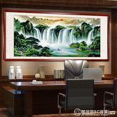 旭日東升國畫山水畫風水靠山圖客廳裝飾畫招財辦公室字畫掛畫壁畫    《圖拉斯》