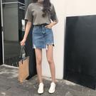 ★鉅惠不規則破洞女春夏高腰牛仔裙韓版潮A...