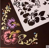 主題花邊尺DIY手工相冊配件材料手繪繪畫板鏤空模版畫圖工具神器【櫻花本鋪】