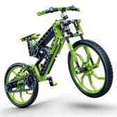 高科技益智拼裝積木諾馳山地腳踏車塑料拼插親子玩具 熊熊物語