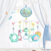 床鈴 新生嬰兒床鈴音樂旋轉床頭鈴男女孩寶寶玩具0-3-6-12個月1歲生日禮物【快速出貨好康八折】