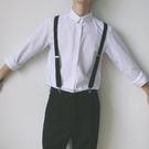 男士彈力吊褲帶背帶男女黑色學生褲子鬆緊扣防滑背帶夾子潮 洛小仙女鞋