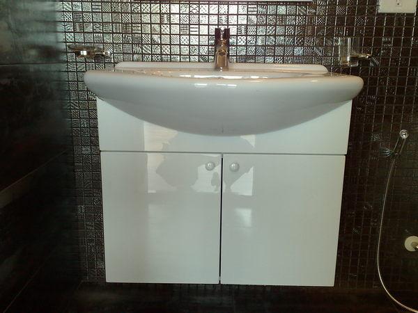 【麗室衛浴】義大利原裝AXA  80414 65*50cm 單孔   檯面盆+南亞發泡板浴櫃(不含龍頭)