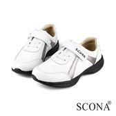 SCONA 蘇格南 全真皮 輕量高彈力休閒鞋 白色 1248-1