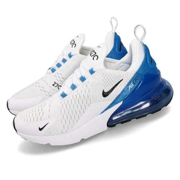 Nike 休閒鞋 Air Max 270 白 藍 大氣墊 厚底 增高 男鞋 運動鞋 【PUMP306】 AH8050-110