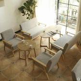 沙發 甜品奶茶店西餐咖啡廳洽談桌椅組合簡約休閒雙人卡座辦公室布沙發 第六空間 igo
