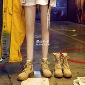 馬丁靴  馬丁靴女短筒ins短靴英倫風春秋學生chic韓版百搭女靴子 『伊莎公主』