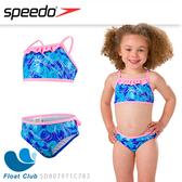 SPEEDO 女童 休閒兩截泳裝 冰雪奇緣 粉藍 SD807971C783 防曬衣 萊卡衣 游泳