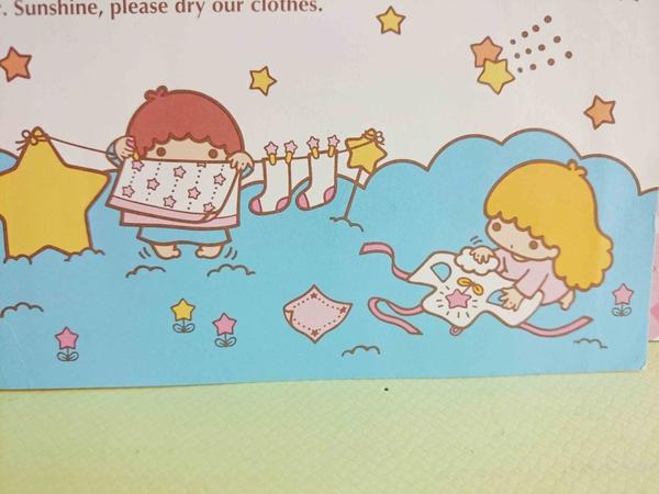 【震撼精品百貨】Little Twin Stars KiKi&LaLa 雙子星小天使~卡片-曬衣