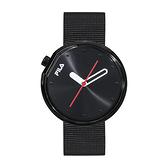 【FILA 斐樂】月蝕系列簡約風設計腕錶-個性黑/38-161-202/台灣總代理公司貨享兩年保固