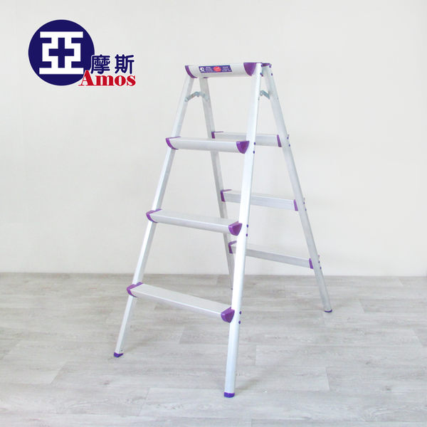 梯子 折疊梯 收納梯 樓梯椅【GAW008】超穩固多功能四階鋁製A字椅梯 摺疊梯 家用梯 Amos