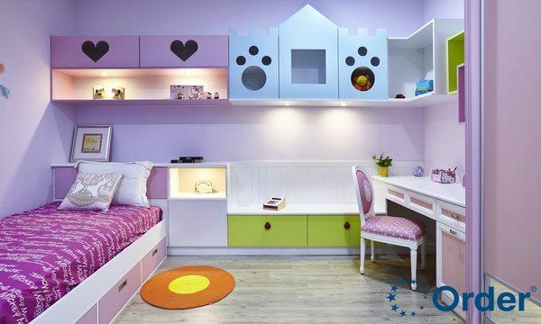 粉彩城堡小孩房-【歐德家具集團全室規劃系列】免費室內設計