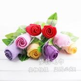 F0335 婚慶禮品情侶禮物玫瑰花PVC盒裝創意教師國慶節禮品蛋糕毛巾