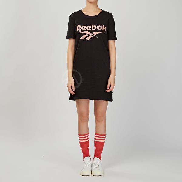 Reebok Classics 女款 黑色 經典 LOGO 運動 洋裝 短袖 FI0954
