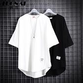 夏季男士白色短袖t恤寬鬆韓版潮流半袖純棉體恤打底衫男生上衣服 陽光好物
