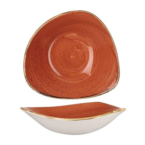 英國Churchill 點藏系列 - 三角23.5cm餐碗/餐盤(彩橘色)