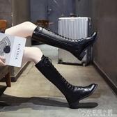 馬丁靴女鞋秋款新款秋季英倫風網紅瘦瘦靴厚底百搭長筒靴短靴 安妮塔小鋪