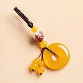 手機掛飾-瑪瑙平安扣菩提蓮花古典鑰匙扣10款73xd14【時尚巴黎】