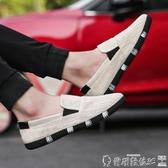 帆布鞋 春季款亞麻布帆布鞋男韓版潮流休閒鞋男一腳蹬懶人鞋透氣布鞋男士 爾碩數位