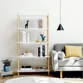 左下北歐書架簡約學生實木書櫃落地置物架客廳簡易兒童創意陳列架