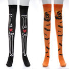 萬聖節 過膝造型絲襪 女童 薄絲襪 絲襪 襪子 黑絲襪 膝上襪 橘魔法 現貨 角色扮演 大人 大童 兒童