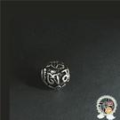六字真言 925純銀 圓珠10mm【十方佛教文物】